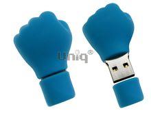 Флешка Uniq USB 2.0 КУЛАК голубой Резина 4GB (04C17627U2)