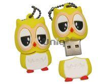 Флешка Uniq USB 2.0 СОВА желтая 4GB (04C17633U2)