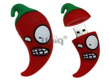 Флешка Uniq USB 2.0 ПЕРЕЦ ЧИЛИ CRAZY брелок красный. противоударн. Резина 4GB (04C17634U2)