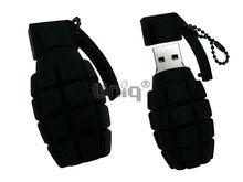 Флешка Uniq USB 2.0 ОРУЖИЕ ГРАНАТА черная Резина 4GB (04C17638U2)