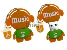 Флешка Uniq USB 2.0 DJ MUSIC TAB оранжевый Резина 4GB (04C17648U2)