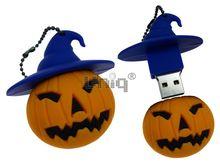 Флешка Uniq USB 2.0 HELLOWEEN, Тыква в шляпе 4GB (04C17657U2)