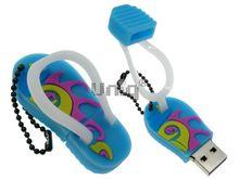 Флешка Uniq USB 2.0 ВЬЕТНАМКИ цветные голубой Резина 4GB (04C17676U2)
