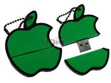 Флешка Uniq USB 2.0 Яблоко зеленый Резина 4GB (04C17699U2)