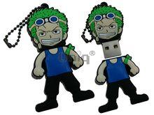 Флешка Uniq USB 2.0 ПИЛОТ черный /зеленый / синий Резина 4GB (04C17716U2)