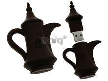 Флешка Uniq USB 2.0 ЧАЙНИК ДЛЯ КОФЕ коричневый Резина 4GB (04C17749U2)