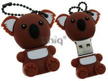 Флешка Uniq USB 2.0 КОАЛА мальчик сидящий коричневый Резина 4GB (04C17759U2)