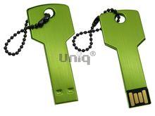 Флешка Uniq USB 2.0 КЛЮЧ Дверной зеленый [металл] 4GB (04C17780U2)