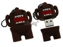 Флешка Uniq USB 2.0 ГЕРОИ ДОМО- КУН коричневый Резина 4GB (04C17792U2)
