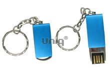 Флешка Uniq USB 2.0 ОФИСНЫЙ ПЛАНКТОН металл, синий, поворотная 4GB (04C17808U2)