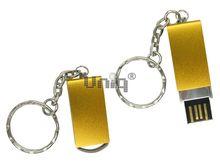 Флешка Uniq USB 2.0 ОФИСНЫЙ ПЛАНКТОН металл, золото, поворотная 4GB (04C17809U2)