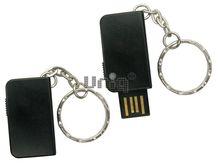 Флешка Uniq USB 2.0 ОФИС КНИЖКА металл, черный, выдвижная 4GB (04C17816U2)