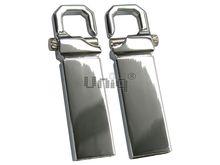 Флешка Uniq USB 2.0 КАРАБИН SLIM серебро 4GB (04C17837U2)