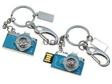 Флешка Uniq USB 2.0 ФОТОАППАРАТ серебро / голубой [металл, эмаль, камни] 4GB (04C17867U2)