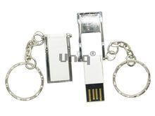 Флешка Uniq USB 2.0 ОФИС ОРГАНАЙЗЕР серебро/белая, металл + пластик, складная 4GB (04C17877U2)