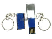 Флешка Uniq USB 2.0 ОФИС ОРГАНАЙЗЕР серебро/синий, металл + пластик, складная 4GB (04C17879U2)