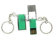 Флешка Uniq USB 2.0 ОФИС ОРГАНАЙЗЕР серебро/зеленый, металл + пластик, складная 4GB (04C17880U2)