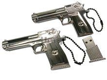 Флешка Uniq USB 2.0 ОРУЖИЕ Пистолет серебро 4GB (04C17889U2)