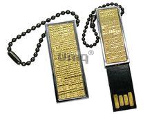 Флешка Uniq USB 2.0 ФАКТУРА НИТИ Золото 4GB (04C17891U2)