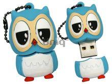 Флешка Uniq USB 2.0 СОВА голубая 4GB (04C17894U2)