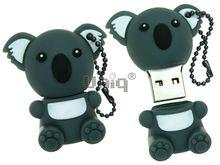 Флешка Uniq USB 2.0 КОАЛА серый сидящий Резина 4GB (04C17901U2)