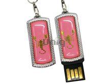 Флешка Uniq USB 2.0 ZODIAK MINI Скорпион светло- розовый (Scorpio) [металл, пластик] 4GB (04C17915U2)