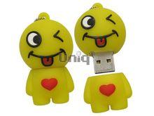 Флешка Uniq USB 2.0 ХИТРЫЙ СМАЙЛ, Резина 4GB (04C17927U2)