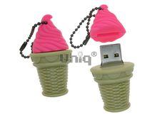 Флешка Uniq USB 2.0 ЭСКИМО стаканчик, малиновое, Резина 4GB (04C17943U2)