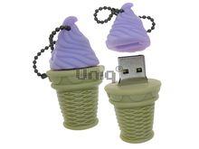 Флешка Uniq USB 2.0 ЭСКИМО стаканчик, черничное, Резина 4GB (04C17944U2)