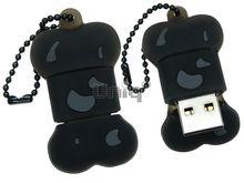 Флешка Uniq USB 2.0 КОСТОЧКА черная Flash USB водонепрониц. Резина 4GB (04C17982U2)