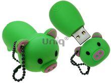 Флешка Uniq USB 2.0 ХРЮША зеленая 4GB (04C17990U2)
