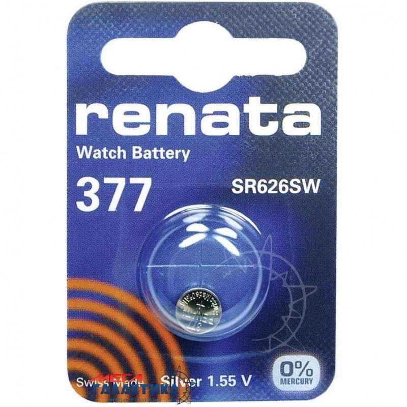 Батарейка Renata 377 (Часовая) 26 mAh 1.55V Silver Oxide  Фото товара №2