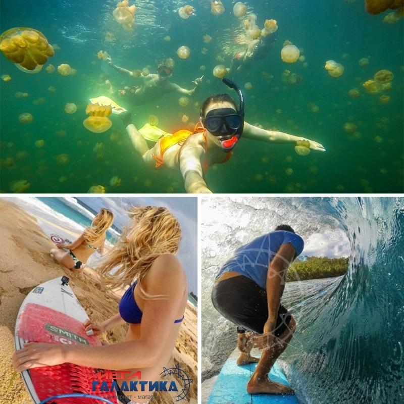Поплавок для GoPro Hero/2/3/3+/4 PULUZ  с ремешком для подводной съёмки   Orange OEM Фото товара №2