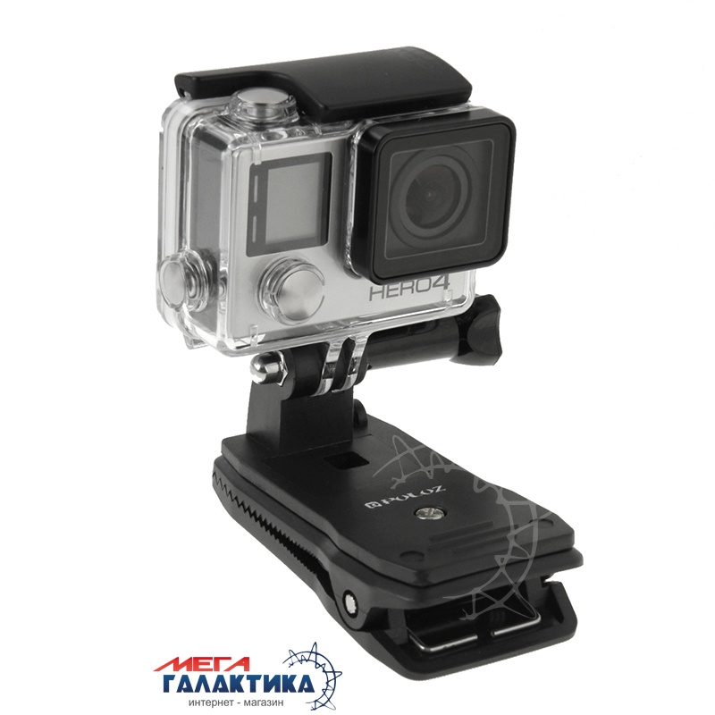 Крепление для GoPro Hero/2/3/3+/4/4 Session PULUZ прищепка,поворот на 360°  Black OEM Фото товара №2