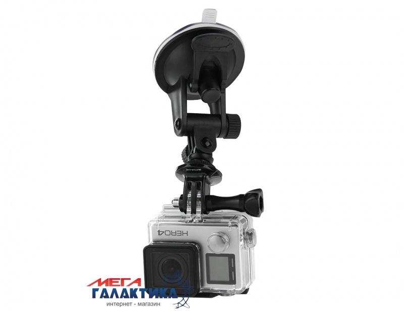 Крепление для GoPro Hero/2/3/3+/4/4 Session, SJCAM SJ4000/SJ5000/SJ6000, Xiaomi Yi PULUZ Car Suction Cup Mount (автомобильный крепеж)  Black Box Фото товара №1