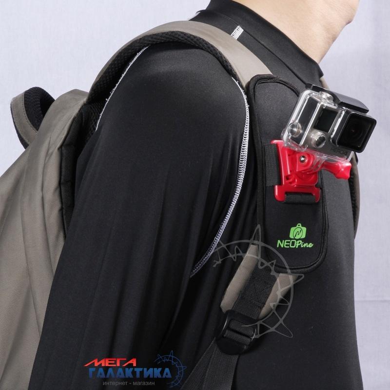 Крепление для GoPro Hero/2/3/3+/4, Xiaomi Yi Megag  на поясной/плечевой ремень  Black OEM Фото товара №2