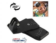 Крепление для GoPro Hero/2/3/3+/4 TMC прищепка поворот на 360°  Black OEM