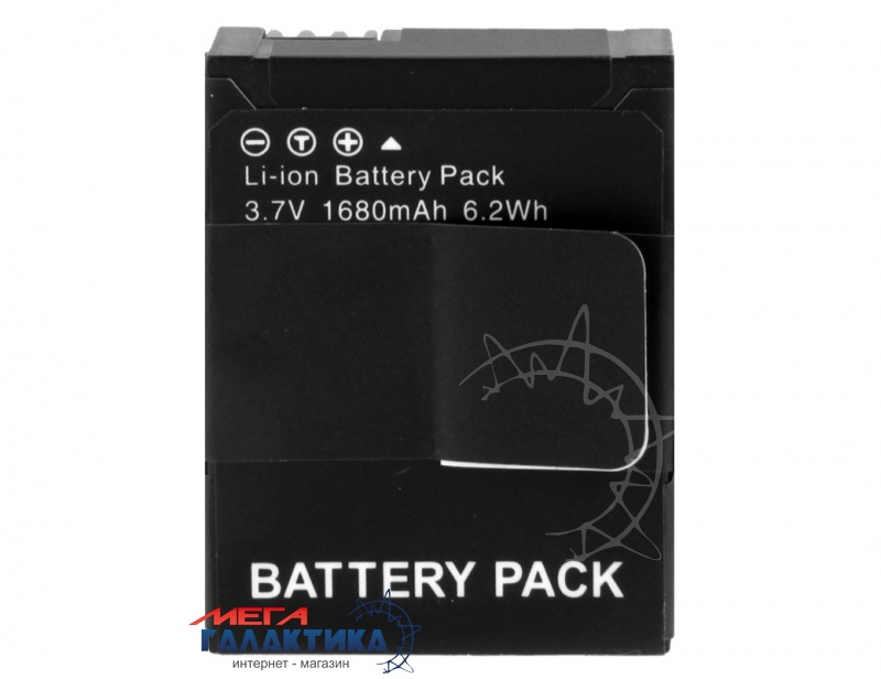 Аккумулятор для GoPro Hero3/3+ Megag для моделей AHDBT-301/302 3.7V 1680mAh  Black Box Фото товара №1