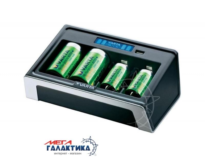 Зарядное устройство для аккумуляторов AA/AAA/C/D/Krona Varta LCD Universal Charger 57678 BLI 1 (57678101401) Фото товара №1