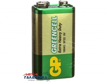 Батарейка GP Krona GLF-2S1 Greencell  9V Carbon-Zinc (Солевая) (4891199001246)