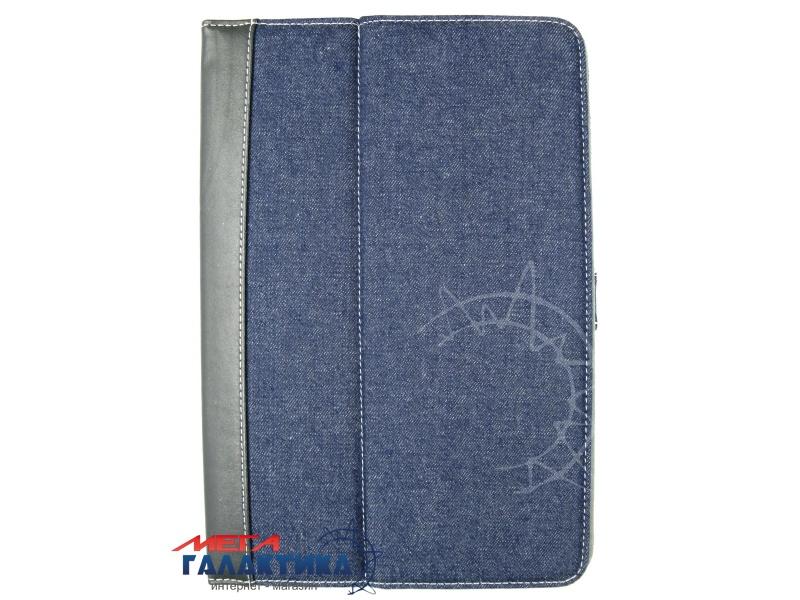 Acer Iconia Tab A510 Чехол, подставка, на магните, джинс+кожа, син-черн Фото товара №1