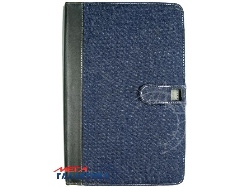 Acer Iconia Tab A510 Чехол, подставка, на магните, джинс+кожа, син-черн Фото товара №2