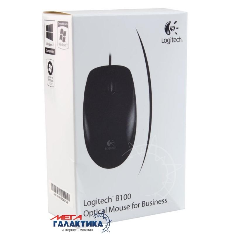 Мышка Logitech B100 (910-003357) USB  800 dpi  Black  Фото товара №2