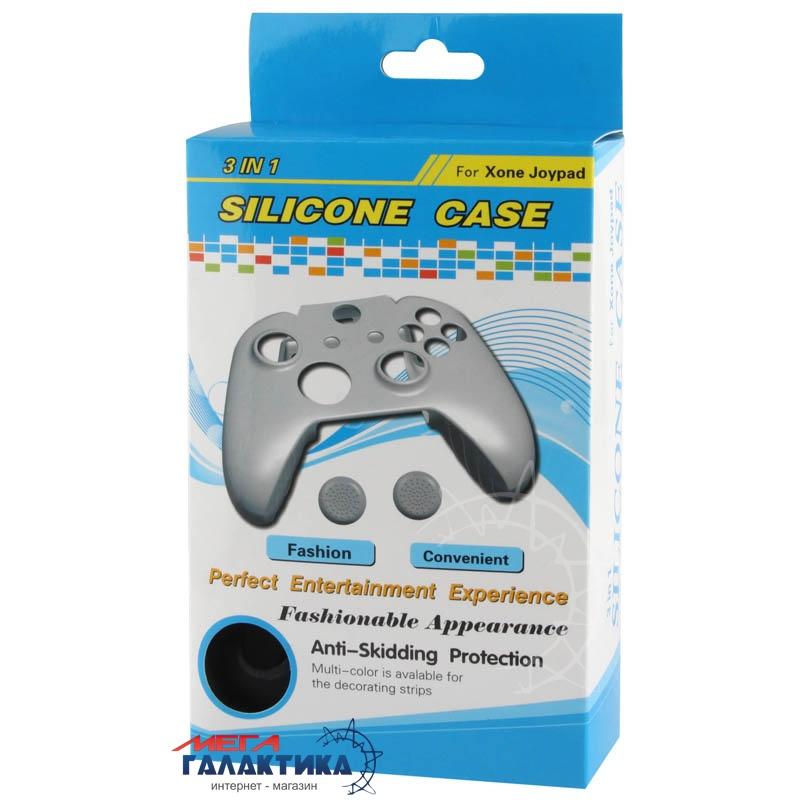 Чехол для джойстика Silicon Case силиконовый + 2 накладки на аналоги  для Xbox One OEM Black Фото товара №2