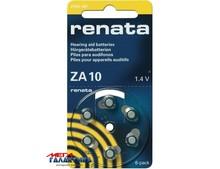 Батарейка Renata ZA10 Zinc Air  100 mAh 1.4V