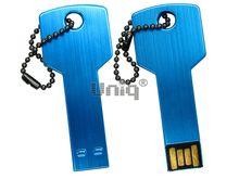 Флешка Uniq USB 2.0 КЛЮЧ Дверной голубой [металл] 4GB (04C35002U2)