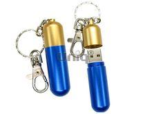 Флешка Uniq USB 2.0 БАЛЛОН газовый золото.-синий [металл] 4GB (04C35036U2)