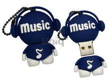 Флешка Uniq USB 2.0 DJ MUSIC TAB синий Резина 4GB (04C35041U2)