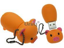 Флешка Uniq USB 2.0 ХРЮША оранжевая 4GB (04C35064U2)