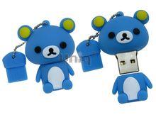 Флешка Uniq USB 2.0 МЕДВЕЖОНОК Желтые Ушки голубой 4GB (04C35069U2)